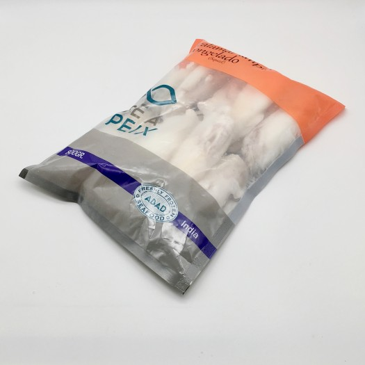 Calamar Limpio de la India IQF bolsa